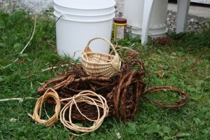 Spruce root basket making is one of the traditional Mi'kmaq crafts that has been passed down through the generations