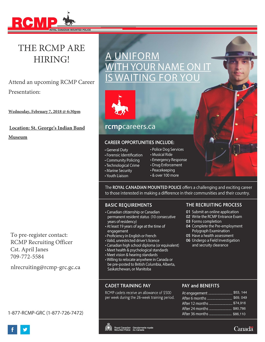 Qalipu First Nation RCMP Recruiting Session