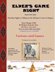 Elders Game Night 2018