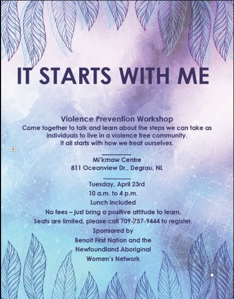 It starts with me - violence prevention workshop