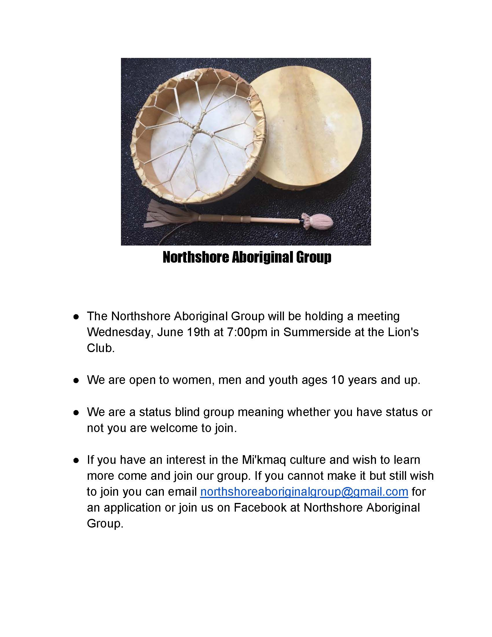 Northshore Aboriginal Group Meeting Poster