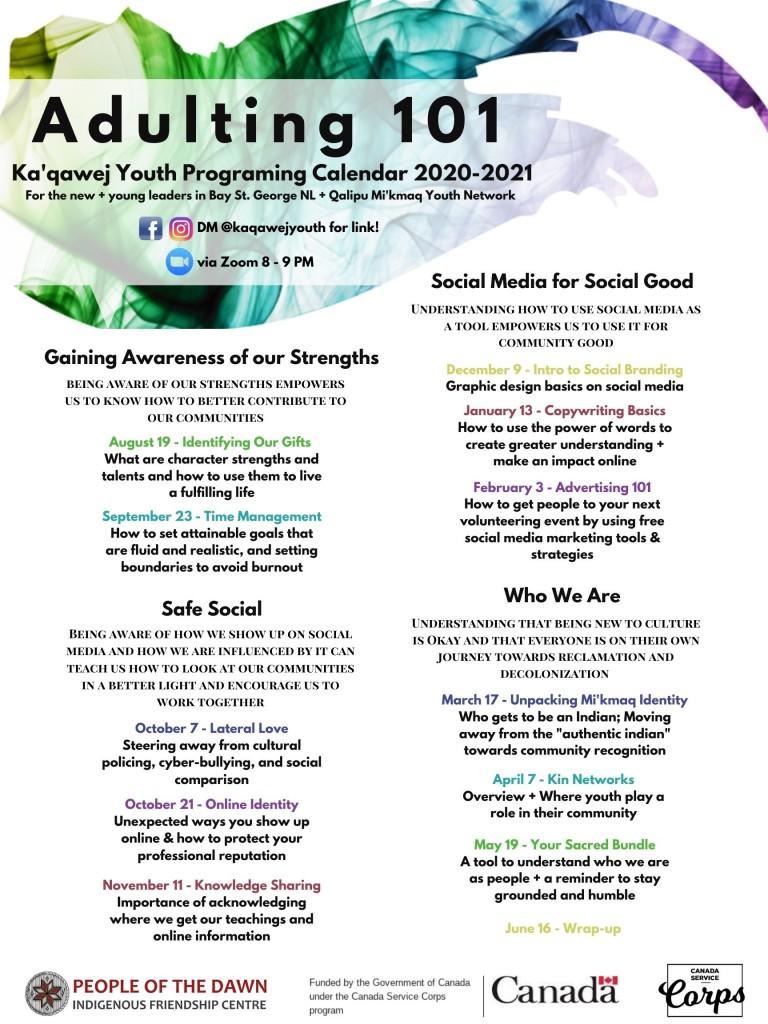 Ka'qawej Youth Programming Calendar 2020-2021 (2)
