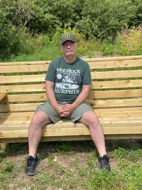Nelson White at the St. George's Community Garden, Friday, August 14, 2020