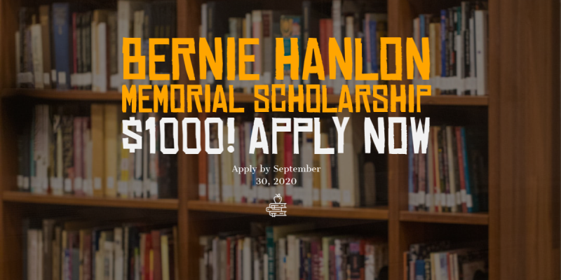 Bernie Hanlon Scholarship Ad