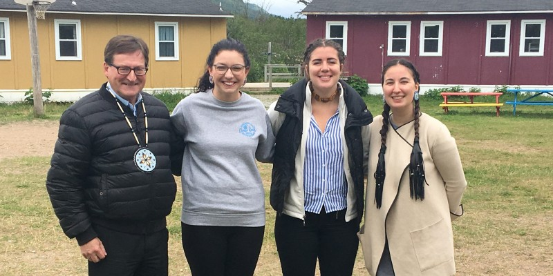Left to right: Chief Brendan Mitchell, Lindsay Batt, Salome Barker, Alex Antle at the inaugural Mawita'jik Maljewe'jk Youth Gathering