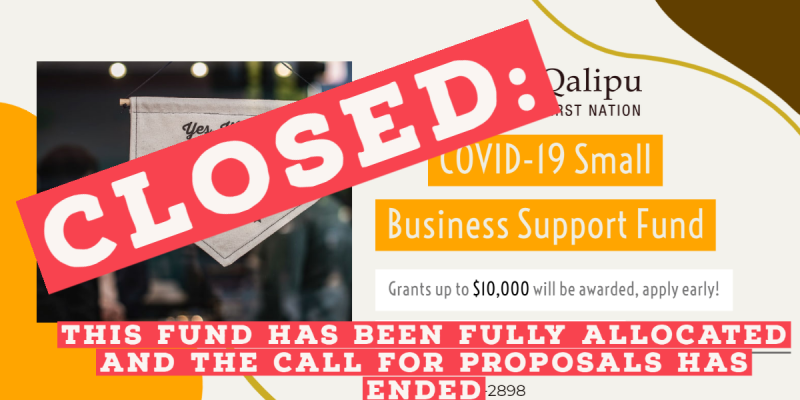 closed_ Small Business Support Fund Web Banner