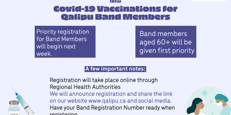 Covid vaccine for Band Members graphic